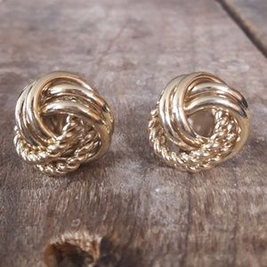 Authentic Vintage Givenchy Gold Earrings
